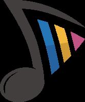 五彩创意音乐符号