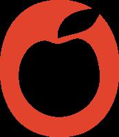 扁平化风格的苹果