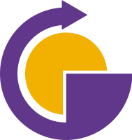 带箭头的太阳和字母G设计