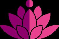两种颜色的莲花标志