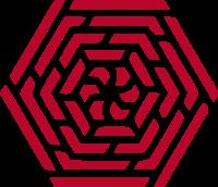 六边形纹路标志