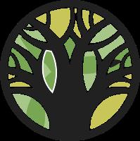 圆形树干标志设计