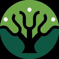 粗线条树干造型标志素材