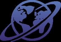 地球和宇宙概念设计标志