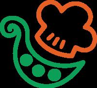 蔬菜和厨师帽的组合标志