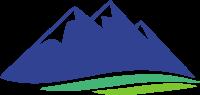 三座山和山脚下的标志