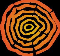 渐变的木头纹理标志