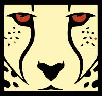 放大的豹子头像标志