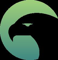 简约缺角的圆形老鹰标志