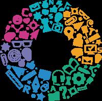 非常多元素组合的创意设计LOGO
