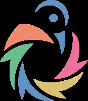 简洁图形元素组合的小鸟标志