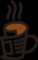 卡通咖啡杯设计的标志