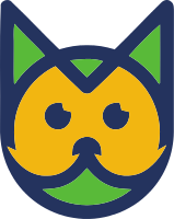 可爱的动物头像标志
