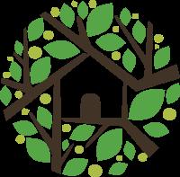 被树叶围绕的房屋标志